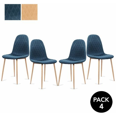 Mc Haus - Pack 2 sillas YRSA diseño nordico salon comedor 50x44x85cm