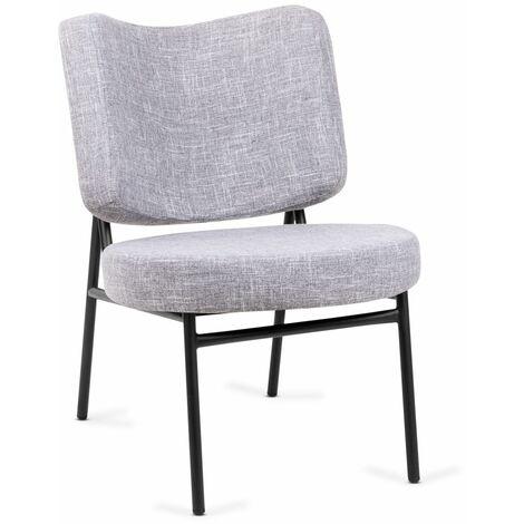 Mc Haus - Poltrona Osha per soggiorno o sala da pranzo, colore Grigio