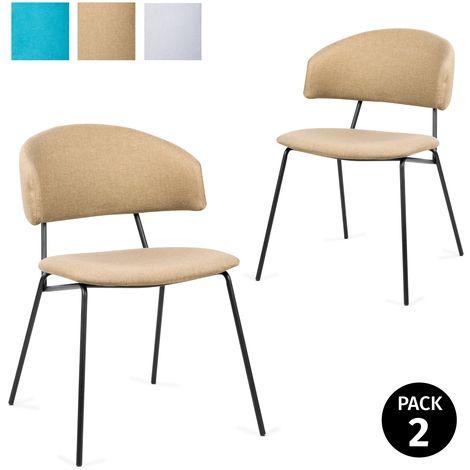 Mc Haus - Shira Pack 2 Sillas Salon Comedor Oficina Dormitorio