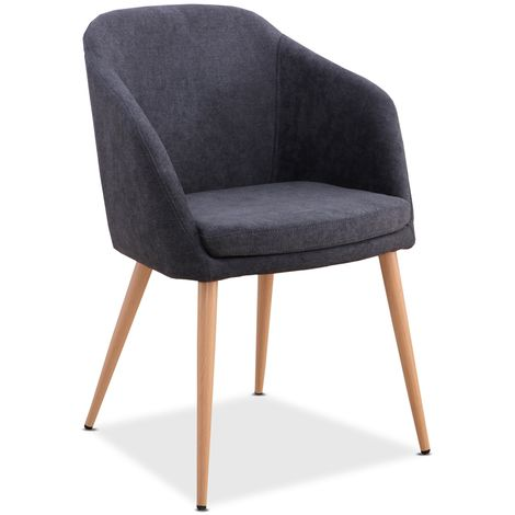Mc Haus - Sillon LARA diseño nordico salon comedor 51,5x53,5x85cm