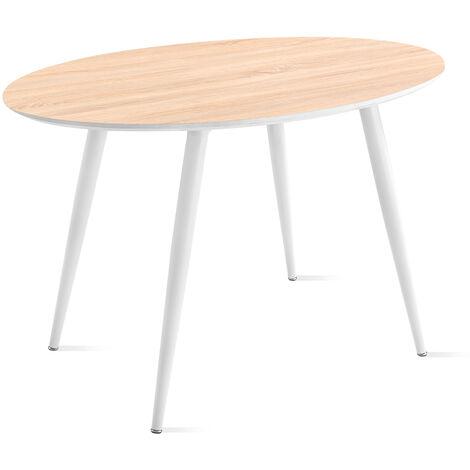 Mc Haus - Table ovale FIKKA MDF design nordique salle manger 129x79x75cm