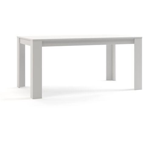Mc Haus - Table salle manger rectangulaire TROTTER bois Noir 160 x 90 x 75 cm