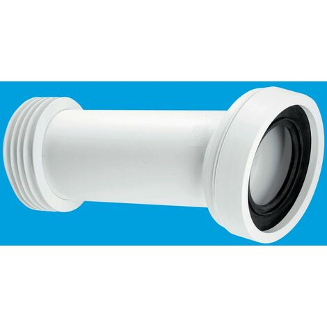 McAlpine 14° Angle Adjustable Length Rigid WC Connector - 110mm Outlet
