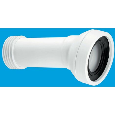 McAlpine 14° Angle Adjustable Length Rigid WC Connector - 90mm Outlet