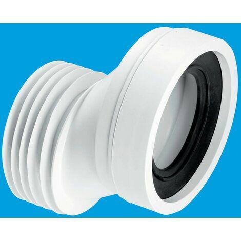 McAlpine 40mm Offset Rigid WC Connector - 110mm Plain End Outlet