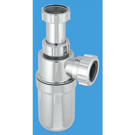 "McAlpine Chrome Plastic Resealing Adjustable Inlet Bottle Trap - 1.1/2"""