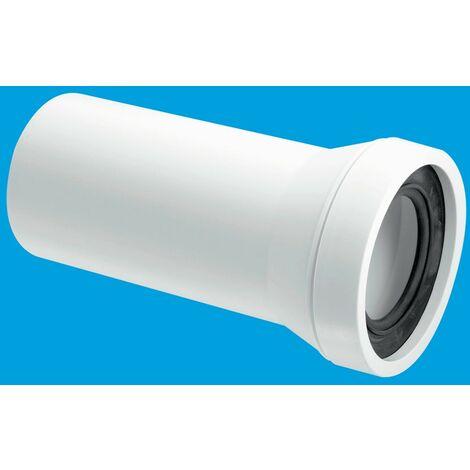 McAlpine Straight Adjustable Length Rigid WC Connector - 110mm Plain End Outlet