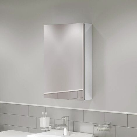 McCann 400mm Mirror Shaving Cabinet White