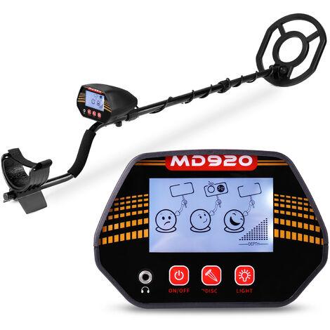 MD920 Panneau de detection 10 pouces ecran LCD Detecteur de metaux portable portable Detecteur de metaux rapide, efficace et de haute precision Expediesans batterie, metal nu
