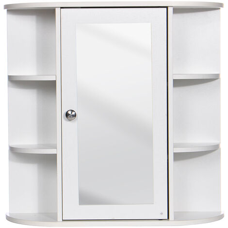 Mdf Bathroom Cabinet Furniture With Mirror Wall Door Storage Cabinet With & SHELF