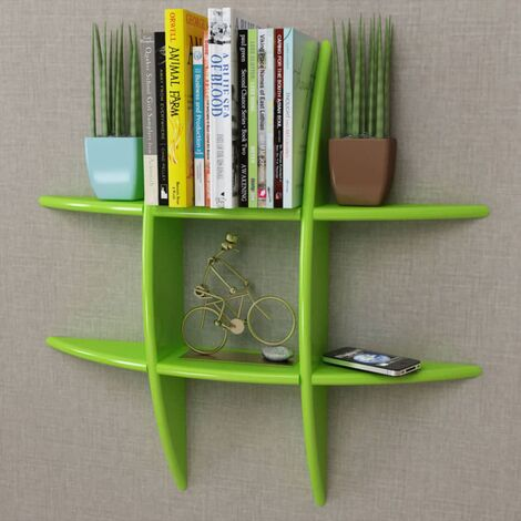 MDF Floating Wall Display Shelf Book/DVD Storage Home Indoor Living Room Storage Cube Shelves Organiser Decorative Wall Storage Display Shelves Multi Colour