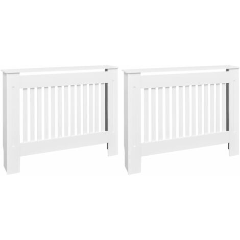 MDF Radiator Cover Heating Cabinet Heating Radiator Accessory Heating Cover Shelf Wall Cabinet Household Appliance Furniture White 112 cm/152 cm