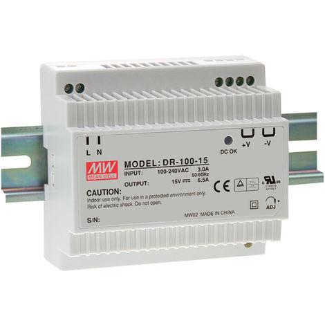 Mean Well DR-100-12 12V / 90W Step Shape Din Rail PSU