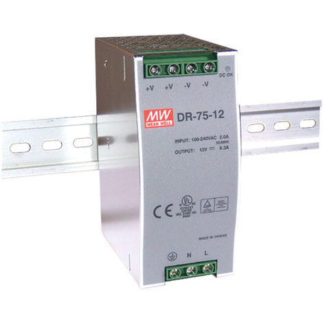 Mean Well DR-75-12 12V / 75.6W Single output Din Rail PSU