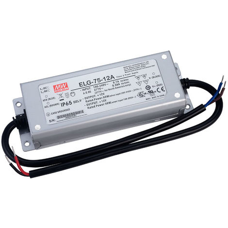 Mean Well ELG-75-12A Constant Voltage & Constant Current LED PSU 12V 5A 60W