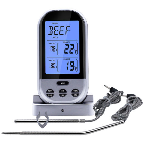 Meat Thermometer Food Thermometer Barbecue BBQ Grill Smoker Thermometer