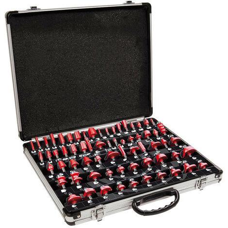 Mecabois - Coffret aluminium de 66 fraises queue de 8mm