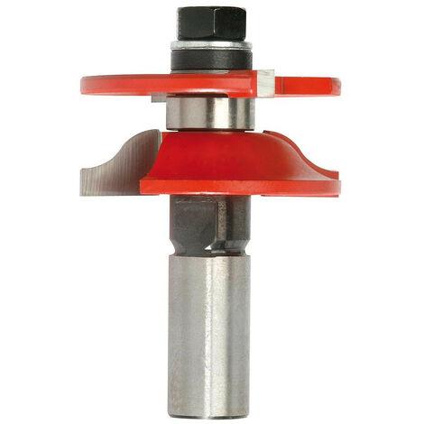 Mecabois - Fraise à profil et contre profil à doucine pour assemblage - Queue (mm) : 12 /Ø(mm)(mm)40 / Longueur utile (mm) : 17