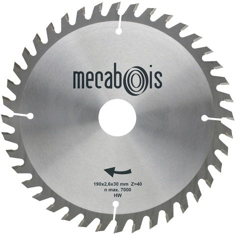 Mecabois - Lame de scie circulaire au carbure de finition -Ø(mm)170 / Alésage : 16 / Epaisseur : 2.6 / Nombre de dents : 40