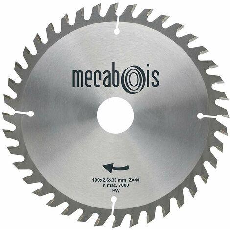 Mecabois - Lame de scie circulaire au carbure de finition -Ø(mm)180 / Alésage : 20 / Epaisseur : 2.6 / Nombre de dents : 40