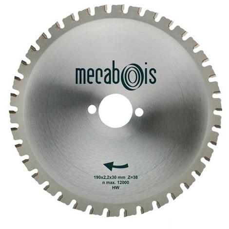 Lame carbure MAXIMETAUX D. 190 x 2,2 x 30 mm Z 38 dents plates - Aciers/Profilés/Panneaux sandwich - 280264 - Sidamo - -