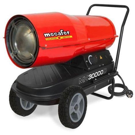 MECAFER Chauffage de chantier / Canon a air chaud Diesel / Fioul avec turbine incorporee 30000 W MH30000D