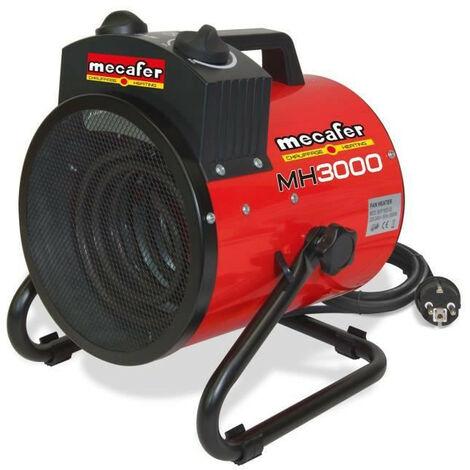MECAFER Chauffage de chantier soufflant électrique 3000 W MH3000