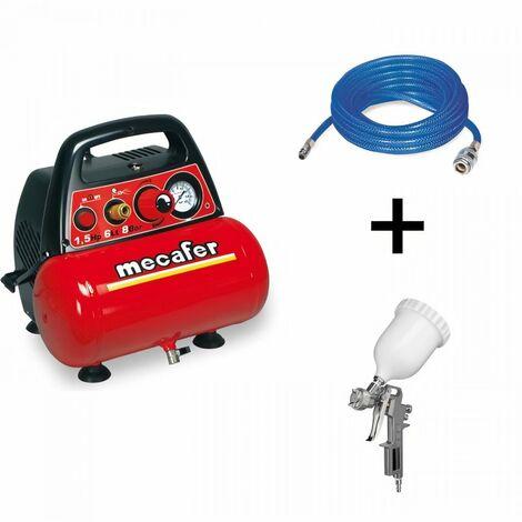 MECAFER Compresseur New Vento 6 litres - 1,5HP + Kit peinture