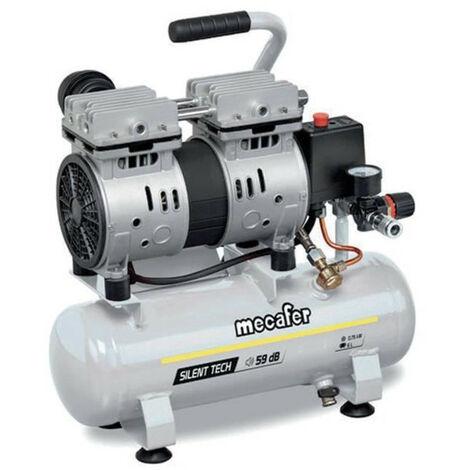MECAFER Compresseur silencieux - 425513 - 6L - 0,5HP - Gris