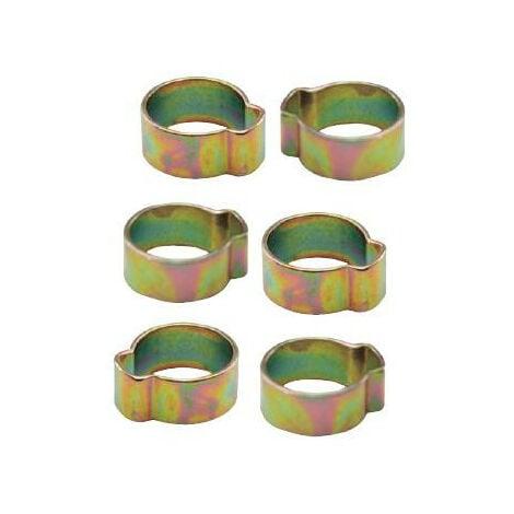 Mecafer - Jeu de 6 colliers à oreilles pour tuyau 6x11