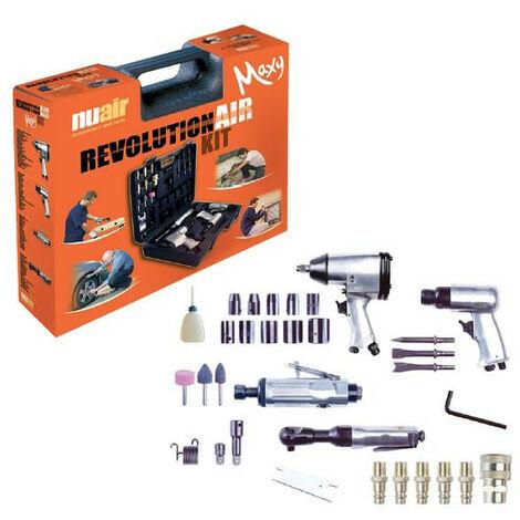 Mecafer RevolutionAir - Composition de 4 outils + 30 accessoires - MAXY KIT
