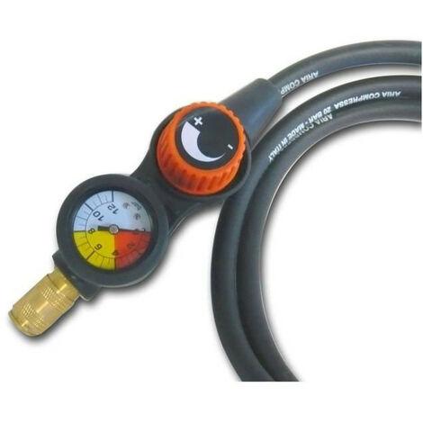 MECAFER Tuyau air comprimé avec régulateur de pression déporté