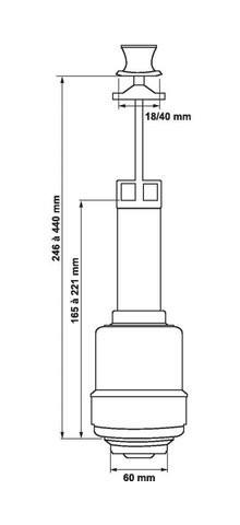 Robinet d/'alimentation Mécanisme chasse d/'eau tirette MPMP ATR 36
