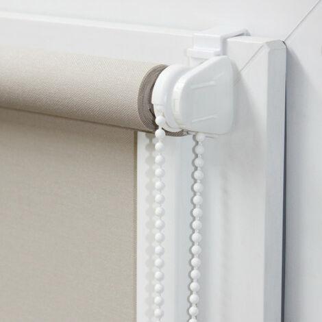 Mécanisme blanc pour store enrouleur sans perçage - E2 - Blanc - Blanc