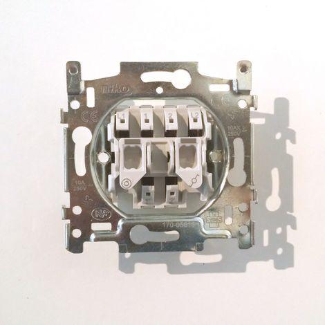 Mécanisme Double NIKO Bouton-Poussoir + Interrupteur Va-et-Vient 170-05615