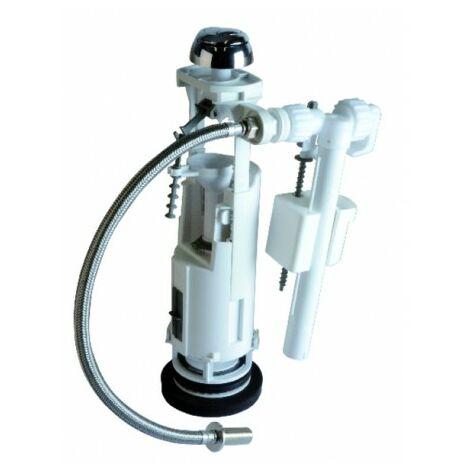 Mécanisme double volume poussoir et robinet 37940110 - SIAMP : 37 9401 10