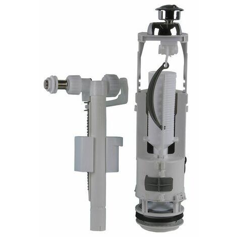 Mécanisme double volume poussoir et robinet - SIAMP : 37 9501 10