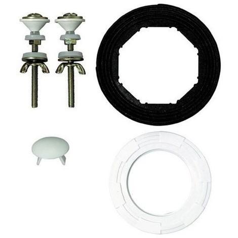 Mécanisme WC compact ''MX'' à tirette (ensemble avec joint et vis de fixation)