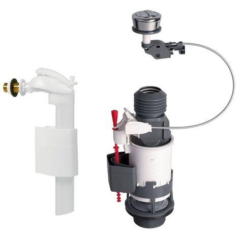 Mécanisme wc MW2 à câble double débit + robinet flotteur F90 - Wirquin Pro 10717746
