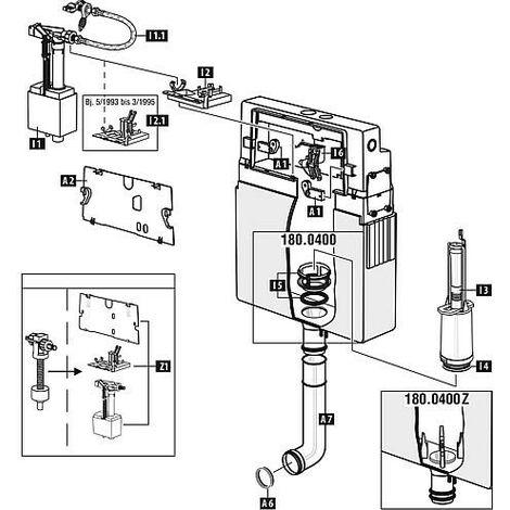 Mecanisme WC Schwab avec joint pour modele 180.xxx