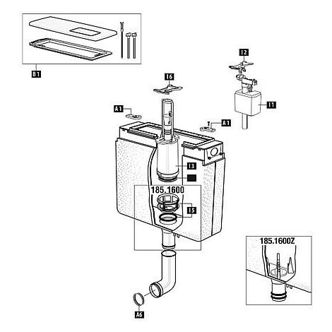 """main image of """"Mecanisme WC Schwab avec joint pour modele 185.xxx"""""""