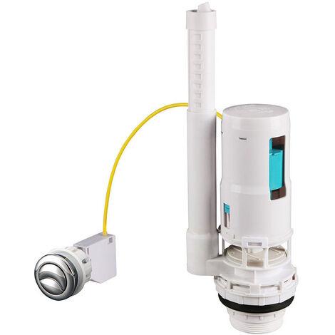 Mecanismo de descarga con doble pulsador para cisterna, Blanco Kibath