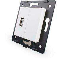 Mecanismo de empotrar enchufe USB, blanco