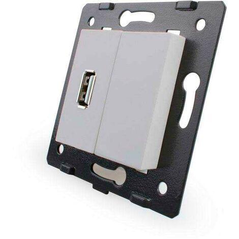 Mecanismo de empotrar enchufe USB, gris