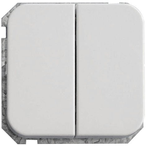 Mecanismo doble blanco CEESE 101101 - 2 interruptores