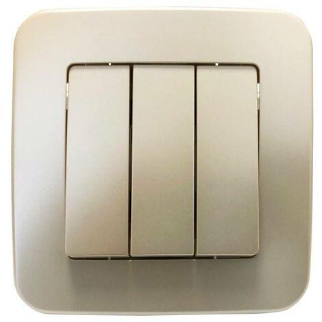 Mecanismo interruptor empotrable de 3 piezas y 1 vía