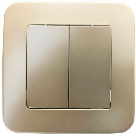 Mecanismo interruptor empotrable de dos piezas y 1 vía