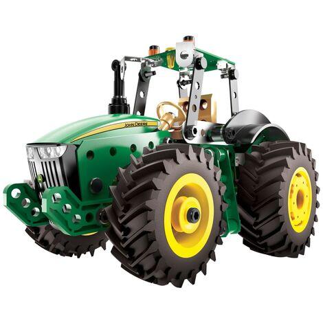 Meccano Tractor Model Set John Deere 8RT Green Black