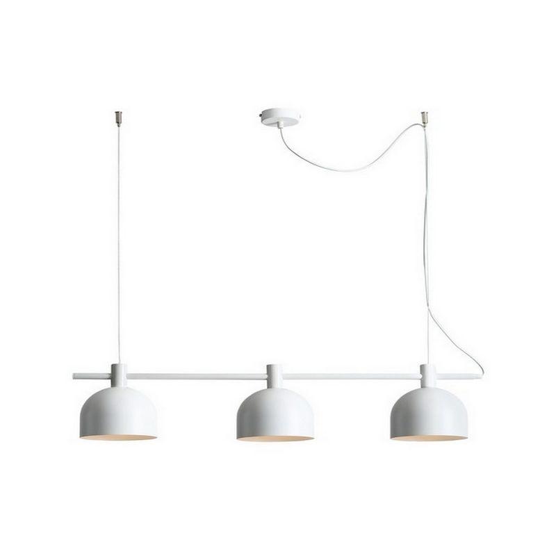 Homemania - Mecha Haengelampe - Deckenleuchte - von Wall - mit 3 Lichtpunkten - Weiss aus Metall, 83 x 15 x 86 cm, 3 x E27, Max 60W