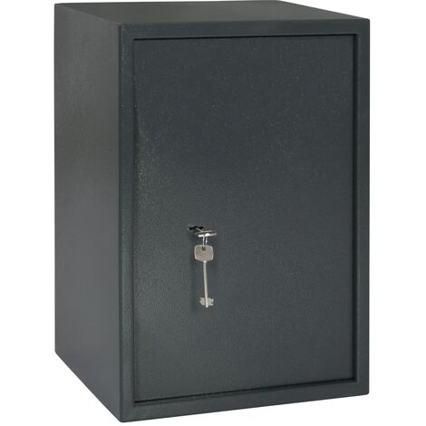 Mechanical Safe Dark Grey 35x31x50 cm Steel
